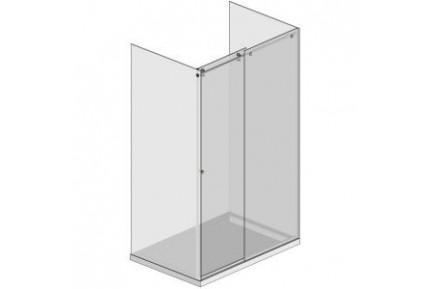 BZ06 háromoldalú tolóajtós zuhanykabin szett, gömbölyített formájú szerelvényekkel