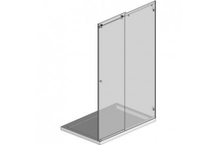 BZ03 tolóajtós zuhanykabin szett gömbölyített formákkal