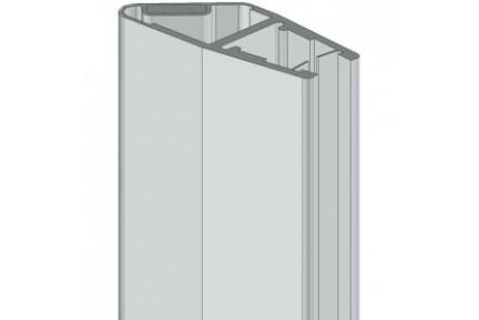 8PT1-60-61 mágneses, műanyag vízzáró profil zuhanykabinokhoz