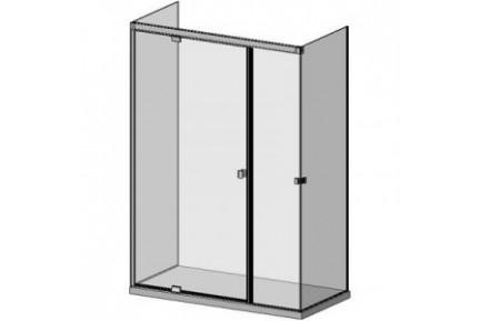 SLASH D05E 62 három üveg oldalú, hidraulikus csukódású zuhanykabin