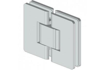 8505 ZAMAK mindkét irányba nyíló, üveg-üveg, rugós, zuhanykabin oldalzsanér