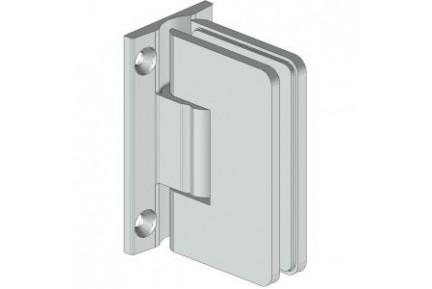 8500 ZAMAK mindkét irányba nyíló, fal-üveg, rugós, zuhanykabin oldalzsanér