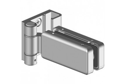 Flexa L 8826 ESPRO üvegfal rendszerhez adaptált, egyirányba nyíló, fal-üveg, üvegajtó oldalpánt