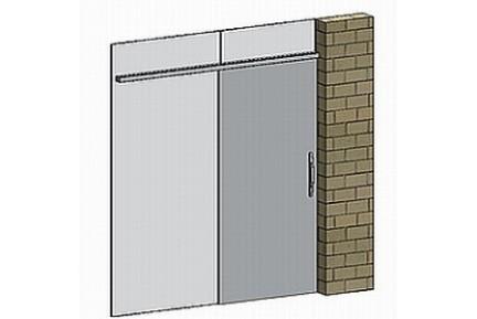 FLO BF03 egyszárnyú, üvegfal-végre építhető tolóajtó-szett