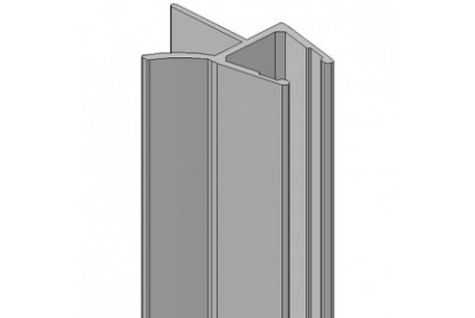 8PT1-35 műanyag vízzáró profil zuhanykabinokhoz