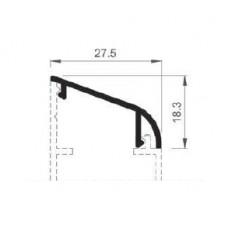 Barandilla üvegkorlát alsó sín borító BAR-8506