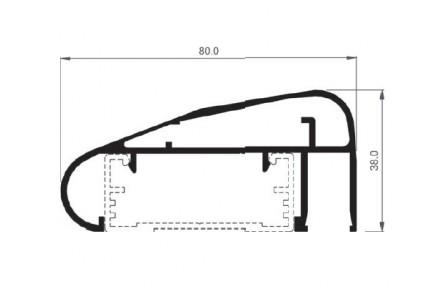 Barandilla üvegkorlát kézfogó BAR-8509
