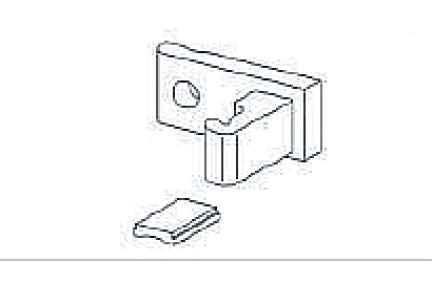 Barandilla üvegkorlát alsósín fali rögzítő BAR-278513