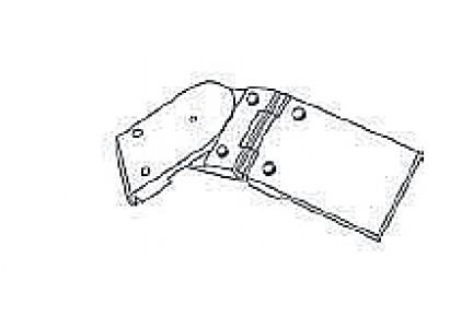 Barandilla üvegkorlát kézfogó duplacsuklós sarokelem BAR-908511