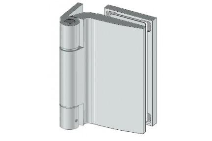 8674 széles falcba építhető, egyirányba nyíló, fal-üveg, üvegajtó oldalpánt