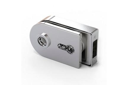 LOQ 684WSC M mágnes vezérelt, íves formájú, kilincses, üvegajtó középzár (az alaptest és a borító külön vásárolható)
