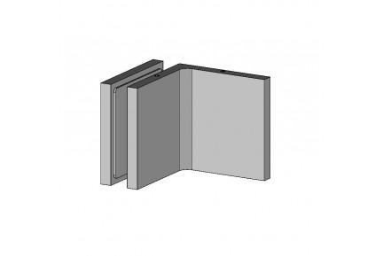QUB 445W10 szögletes fal-üveg rögzítő, burkolt csavarozással