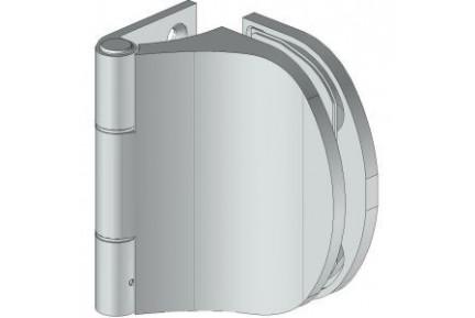 8666 íves, extra széles falcba építhető, egyirányba nyíló, fal-üveg, üvegajtó oldalpánt