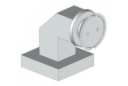 4Q12 pontmegfogásos, fal-üveg, zuhanykabin rögzítő elem