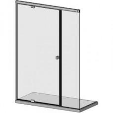 SLASH D05E 32 hidraulikus csukódású üvegajtóból és fix üvegből álló zuhanyfal