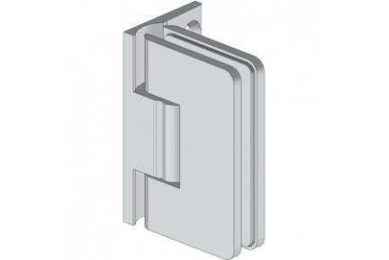 8501 ZAMAK mindkét irányba nyíló, fal-üveg,  rugós, zuhanykabin oldalzsanér