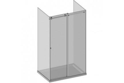 BZQ6 háromoldalú tolóajtós zuhanykabin lezáró szett, szögletes formájú szerelvényekkel