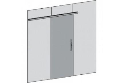 FLO BF00 egyszárnyú, üvegfalba építhető tolóajtó-szett