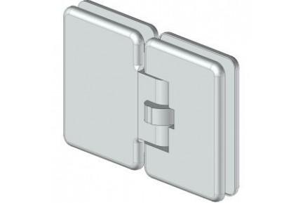 8611 mindkét irányba nyíló, üveg-üveg, automatikus üvegajtó oldalzsanér