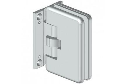 8610 mindkét irányba nyíló, fal-üveg, automatikus üvegajtó oldalzsanér